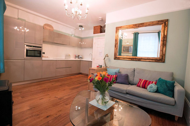 The Swinton Apartment's beautifully decorated living area