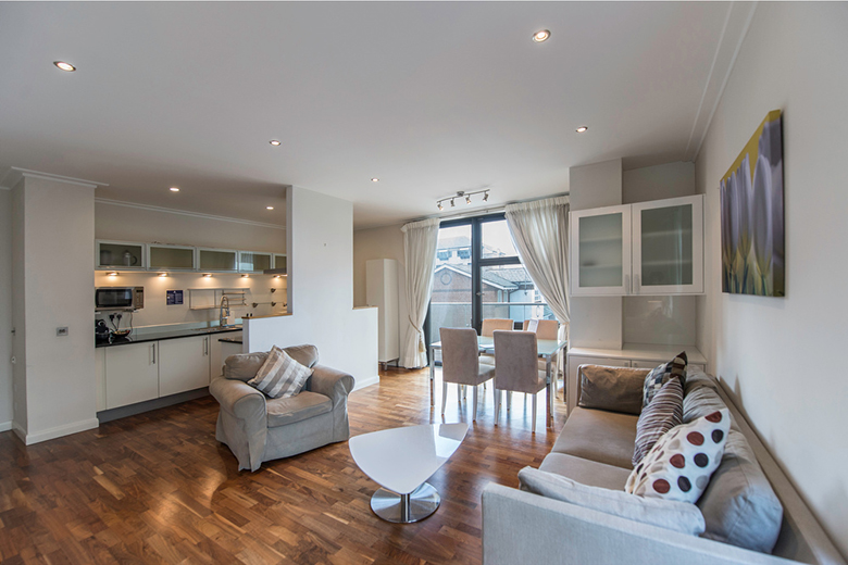 One of Discovery Dock's spacious and open plan living areas