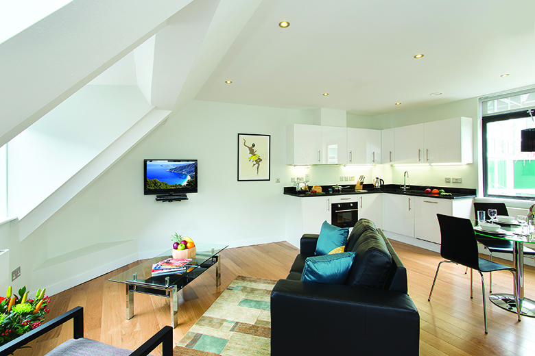 A bright, spacious living space
