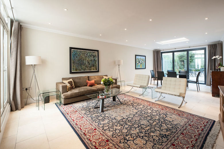 A gorgeous living space at 51 Cornwall Gardens