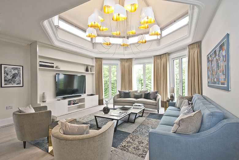 The stunning penthouse lounge available at Fountain House