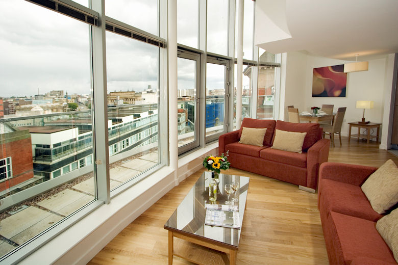A stunning living space with fabulous views
