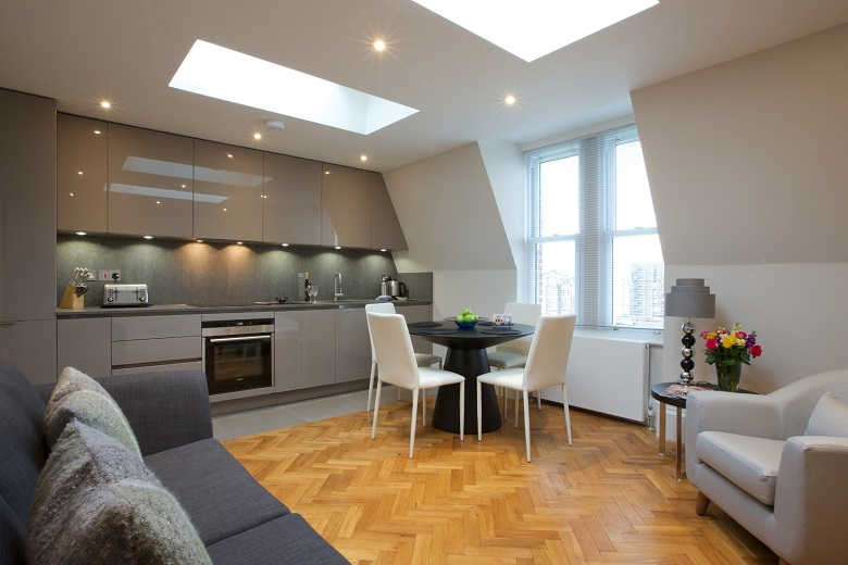 A well thought out and modern kitchen at Barons Court