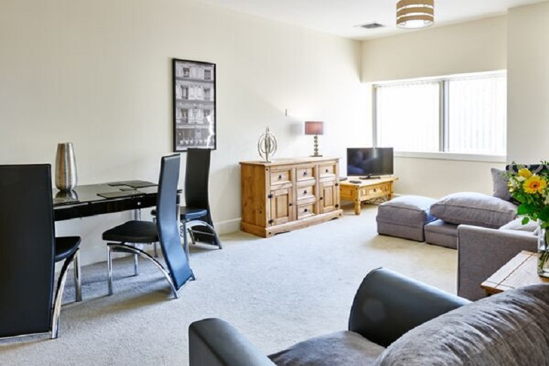 A homely living space at Charter Apartments